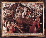 CLAEISSENS, Pieter the Younger Allegory of the 1577 Peace in the Low Countries dfg oil on canvas
