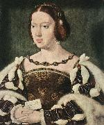 CLEVE, Joos van Portrait of Eleonora, Queen of France  fdg oil on canvas