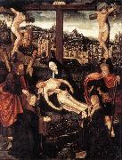 CORNELISZ VAN OOSTSANEN, Jacob Crucifixion with Donors and Saints fdg oil on canvas