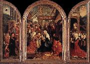CORNELISZ VAN OOSTSANEN, Jacob Triptych of the Adoration of the Magi fd oil on canvas