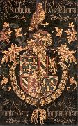 COUSTENS, Pieter Coat-of-Arms of Anthony of Burgundy df oil on canvas