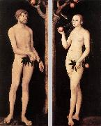 CRANACH, Lucas the Elder Adam and Eve 01 oil painting reproduction