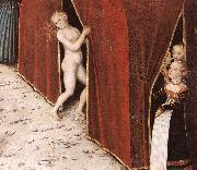 CRANACH, Lucas the Elder The Fountain of Youth (detail)  215 oil painting reproduction