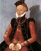 CRANACH, Lucas the Younger Portrait of a Woman sdgsdftg oil on canvas