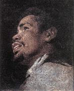 CRAYER, Gaspard de Head Study of a Young Moor dhyj oil on canvas