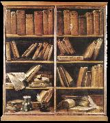CRESPI, Giuseppe Maria Bookshelves dfg oil on canvas
