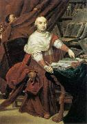 CRESPI, Giuseppe Maria Cardinal Prospero Lambertini dfg oil on canvas
