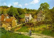 Camille Pissaro The Hermitage at Pontoise oil on canvas