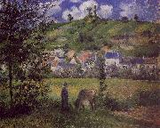 Camille Pissaro Landscape at Chaponval oil on canvas