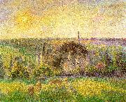 Camille Pissaro Countryside and Eragny Church and Farm oil on canvas