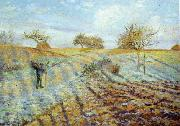Camille Pissaro Hoarfrost painting