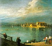 Canaletto San Cristoforo, San Michele Murano oil on canvas
