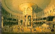 Canaletto Ranelagh, the Interior of the Rotunda oil on canvas