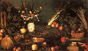 Caravaggio Still Life with Flowers Fruit oil on canvas