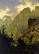 Carlos de Haes The Peaks of Europe,  The Mancorbo Canal oil on canvas