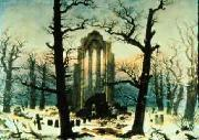 Caspar David Friedrich Cloister Cemetery in the Snow oil on canvas