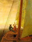 Caspar David Friedrich On Board a Sailing Ship painting