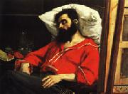 Charles Carolus - Duran The Convalescent ( The Wounded Man ) oil on canvas