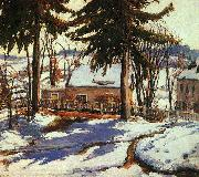 Charles Reiffel February Thaw, Silvermine Connecticut oil