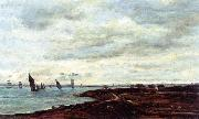 Charles-Francois Daubigny The Banks of Temise at Erith oil painting reproduction