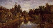Charles-Francois Daubigny The Water's Edge oil on canvas