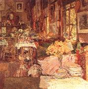 Childe Hassam The Room of Flowers oil on canvas