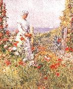 Childe Hassam Celia Thaxter in her Garden oil on canvas