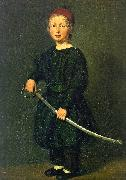 Christian Albrecht Jensen Portrait of a Boy : One of the Artist's Sons oil on canvas