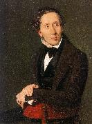 Christian Albrecht Jensen Portrait of Hans Christian Andersen oil on canvas