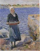 Christian Krohg Solskinn oil on canvas