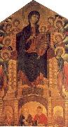 Cimabue The Santa Trinita Madonna oil on canvas