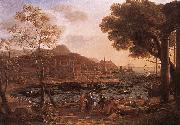 Claude Lorrain Harbour Scene with Grieving Heliades dfg painting