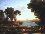 Claude Lorrain Landscape with the Marriage of Isaac and Rebekah oil painting