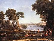 Claude Lorrain Landscape with Dancing Figures dfgdf oil painting reproduction