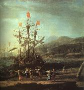 Claude Lorrain The Trojan Women Setting Fire to their Fleet oil on canvas