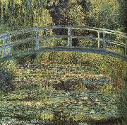 Claude Monet Waterlilies and Japanese Bridge oil painting