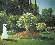 Claude Monet Jeanne-Marguerite Lecadre in the Garden oil on canvas
