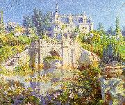Colin Campbell Cooper A California Water Garden at Redlands oil on canvas