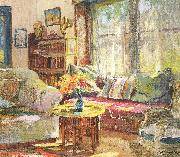 Colin Campbell Cooper Cottage Interior oil on canvas