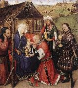 DARET, Jacques Altarpiece of the Virgin dfdsg oil painting reproduction