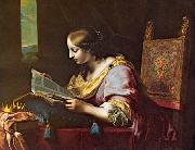 DOLCI, Carlo St Catherine Reading a Book sd oil on canvas