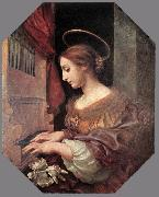 DOLCI, Carlo St Cecilia at the Organ dfg oil on canvas