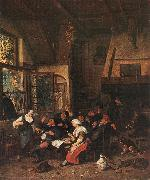 DUSART, Cornelis Tavern Scene sdf oil on canvas