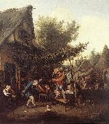 DUSART, Cornelis Village Feast dfg oil on canvas