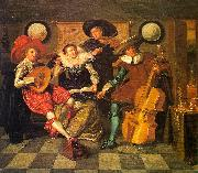 Dirck Hals Musicale oil painting reproduction
