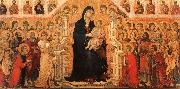 Duccio di Buoninsegna Madonna and Child Enthroned with Angels and Saints oil painting
