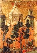 Duccio di Buoninsegna Entry into Jerusalem oil painting reproduction