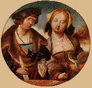 ENGELBRECHTSZ., Cornelis St Cecilia and her Fiance sdf oil on canvas