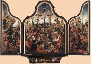 ENGELBRECHTSZ., Cornelis Crucifixion Altarpiece f oil painting reproduction