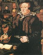 EWORTH, Hans Portrait of Lady Dacre fg oil on canvas